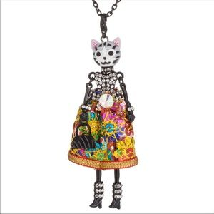 Ultimate glam cat bling bling necklace